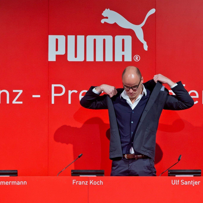 Puma-Chef Franz Koch keilt wegen öffentlichem Rüffel im Herbst zurück.