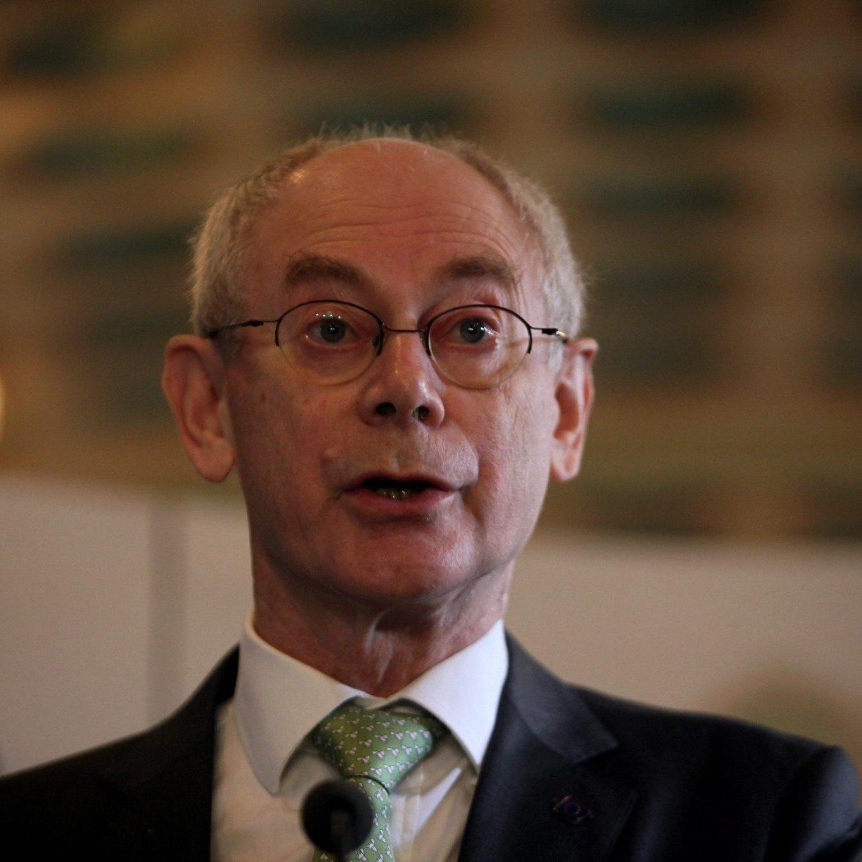EU-Ratspräsident Herman Van Rompuy bestätigt EU-Deal zu Finanzrahmen.