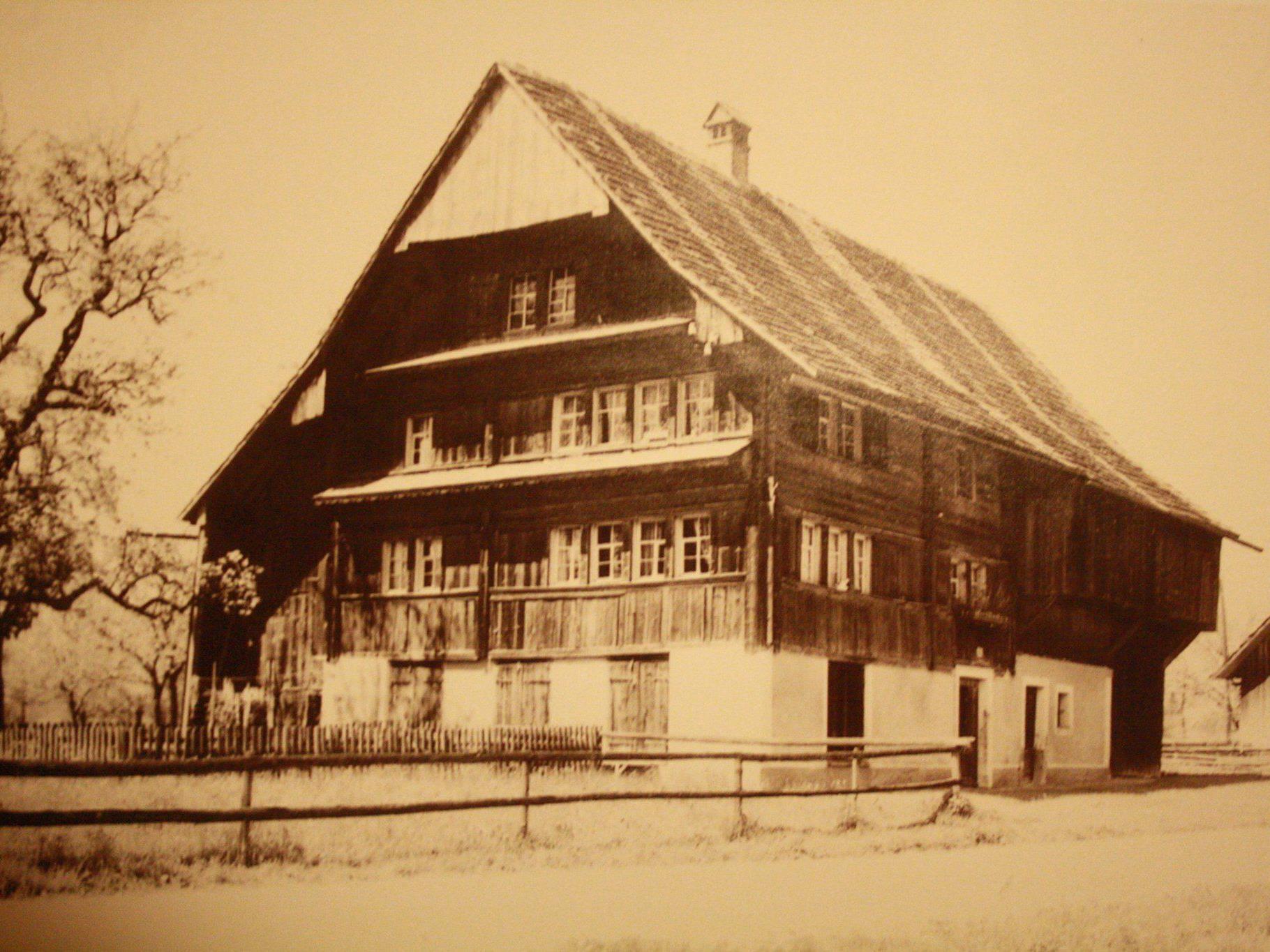 """Das Haus """"Schnindars"""" (Foto aus dem Jahre 1932)."""