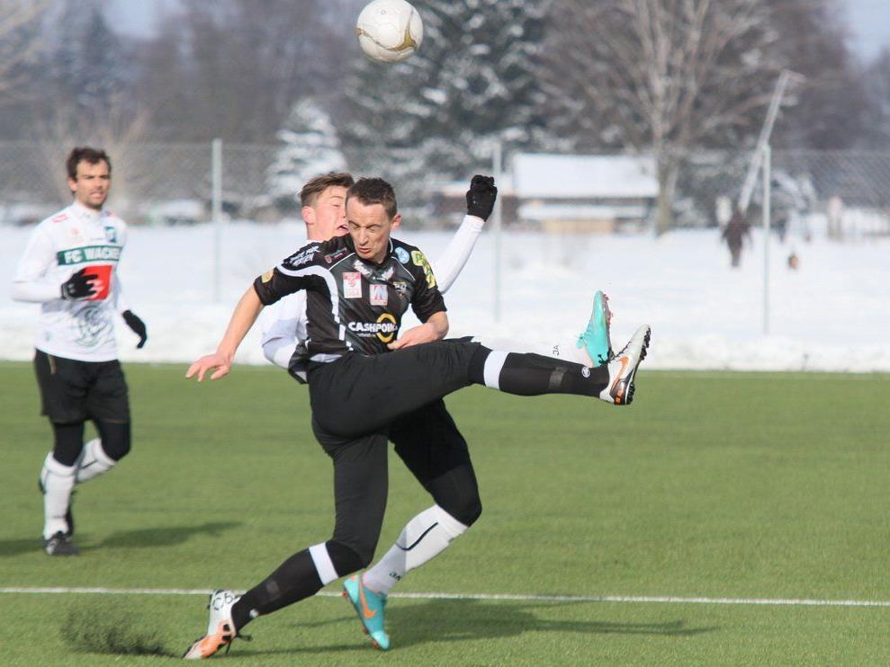 Hannes Aigner schoss für den SCR Altach im Test in Hard den 1:1-Ausgleich.