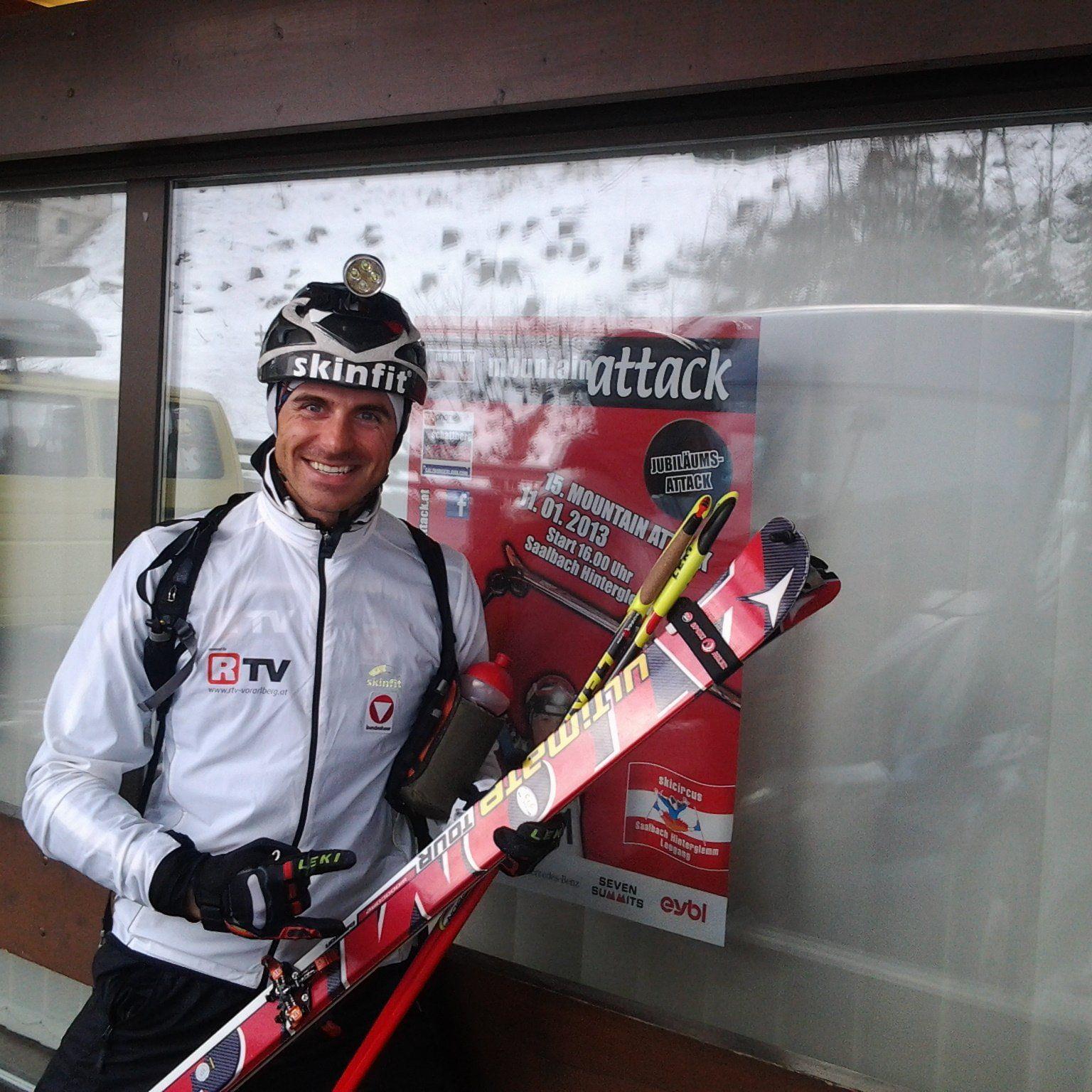 Der Bludescher Patrick Innerhofer wurde beim Niederelauf in Andelsbuch guter Dritter.