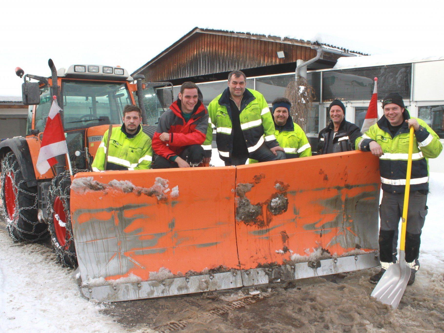 Ein Lob für das Team des Lochauer Wirtschaftshofes für die vorbildliche Schneeräumung.