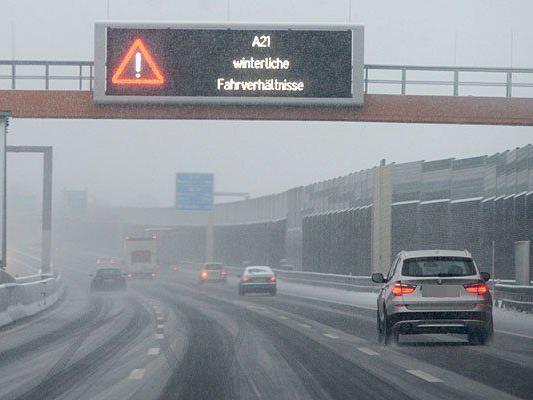 Winterwetter: Die A21 wurde gesperrt