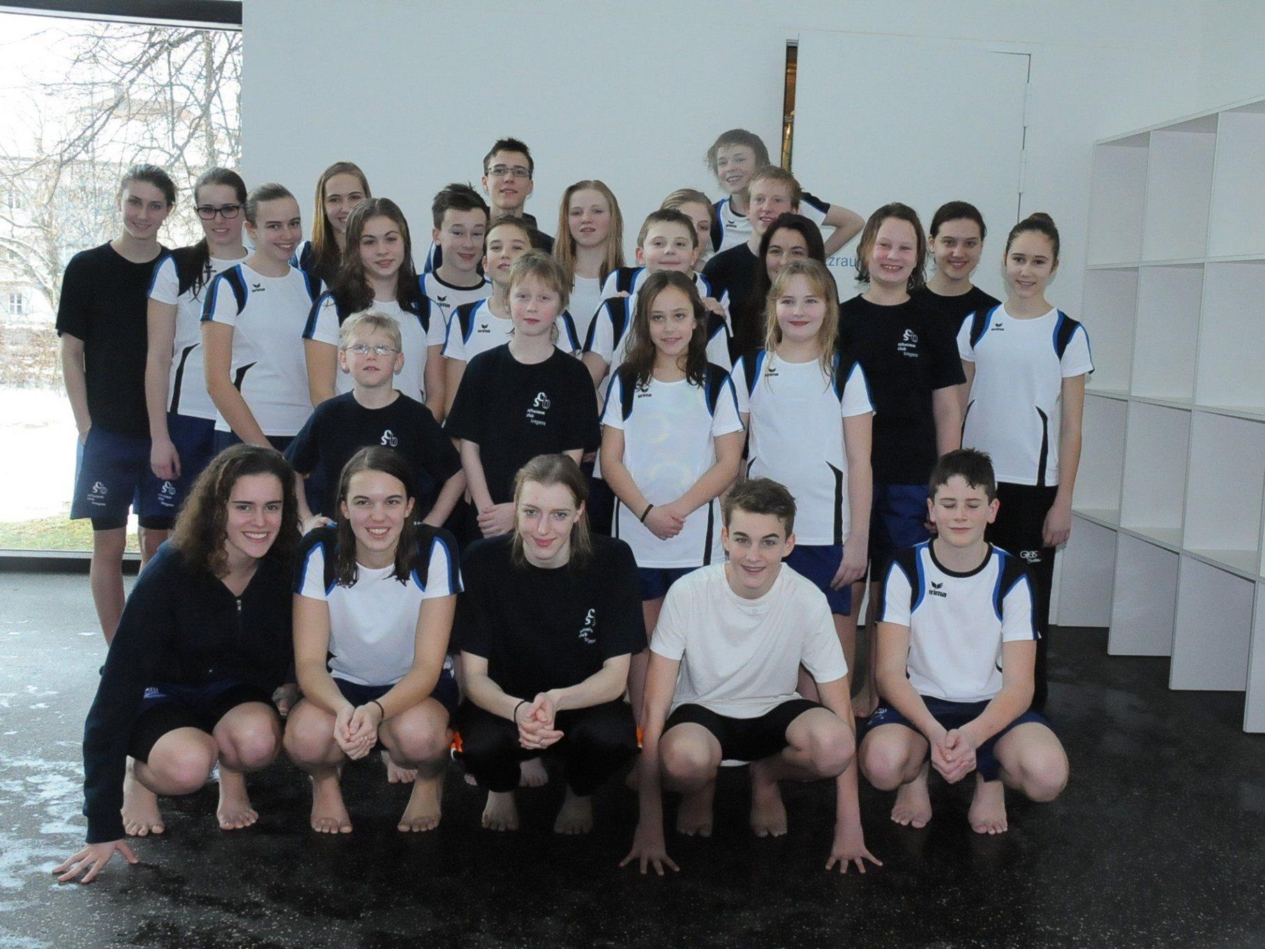 Erfolgreiche SprintpokalteilnehmerInnen vom Schwimmclub Bregenz