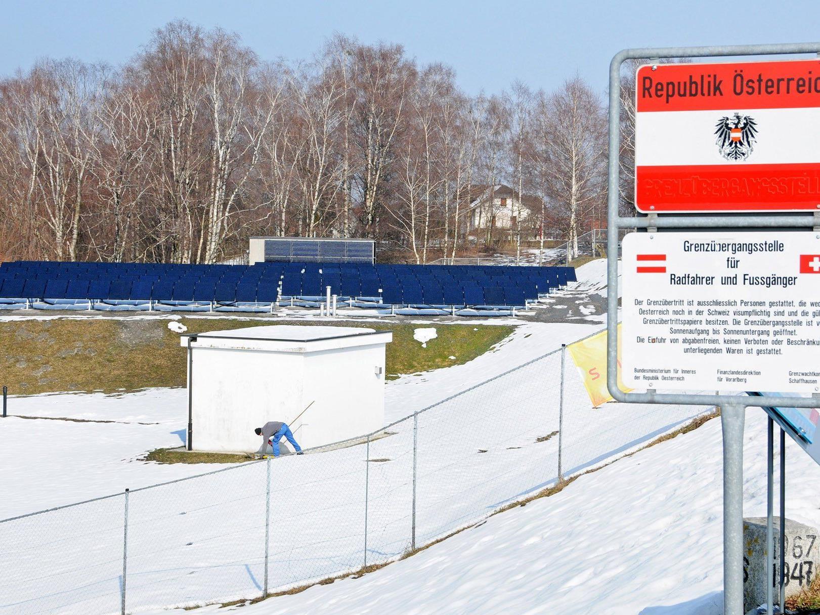 Das Wasserwerk Höchst am Bruggerhorn nutzt die Sonnenenergie zum Betrieb.