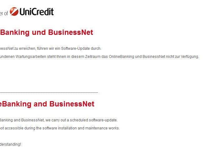 Bank Austria wieder offline -Filialen und Online-Banking stehen still