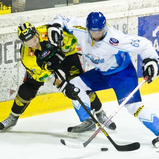 Juha Vanhanen spielte eine bärenstarke Partie für den EHC Lustenau in Kranj.