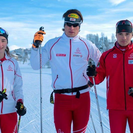 Jasmin Berchtold, Aurelius Herburger und Dominik Baldauf haben die Chance auf Gold.