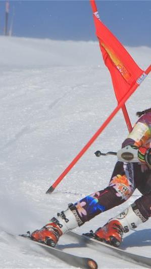 Nadine Taudes aus Bürs siegte am Diedamskopf bei den Schülertitelkämpfen im Super G.