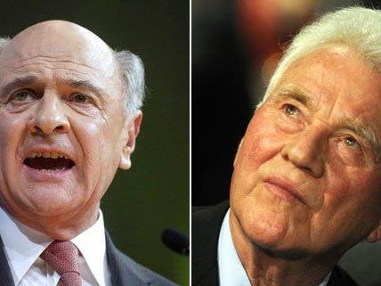 Erwin Pröll und Frank Stronach befinden sich mitten im Wahlkampf.