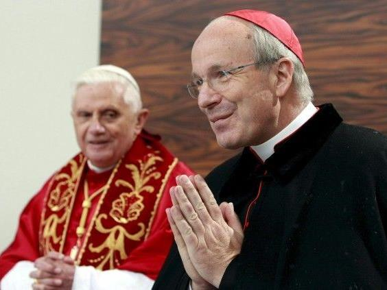 Kardinal Christoph Schönborn mit Papst Benedikt XVI.