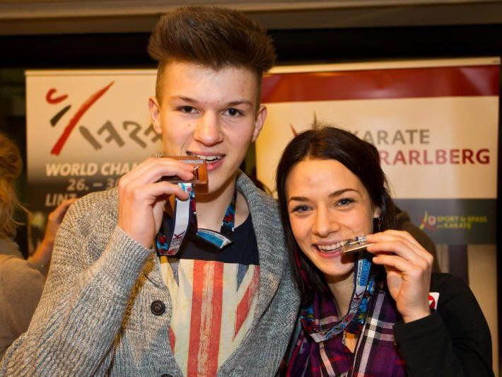 Die beiden EM-Medaillengewinner Bettina Plank und Andre Gratzer durften jubeln.