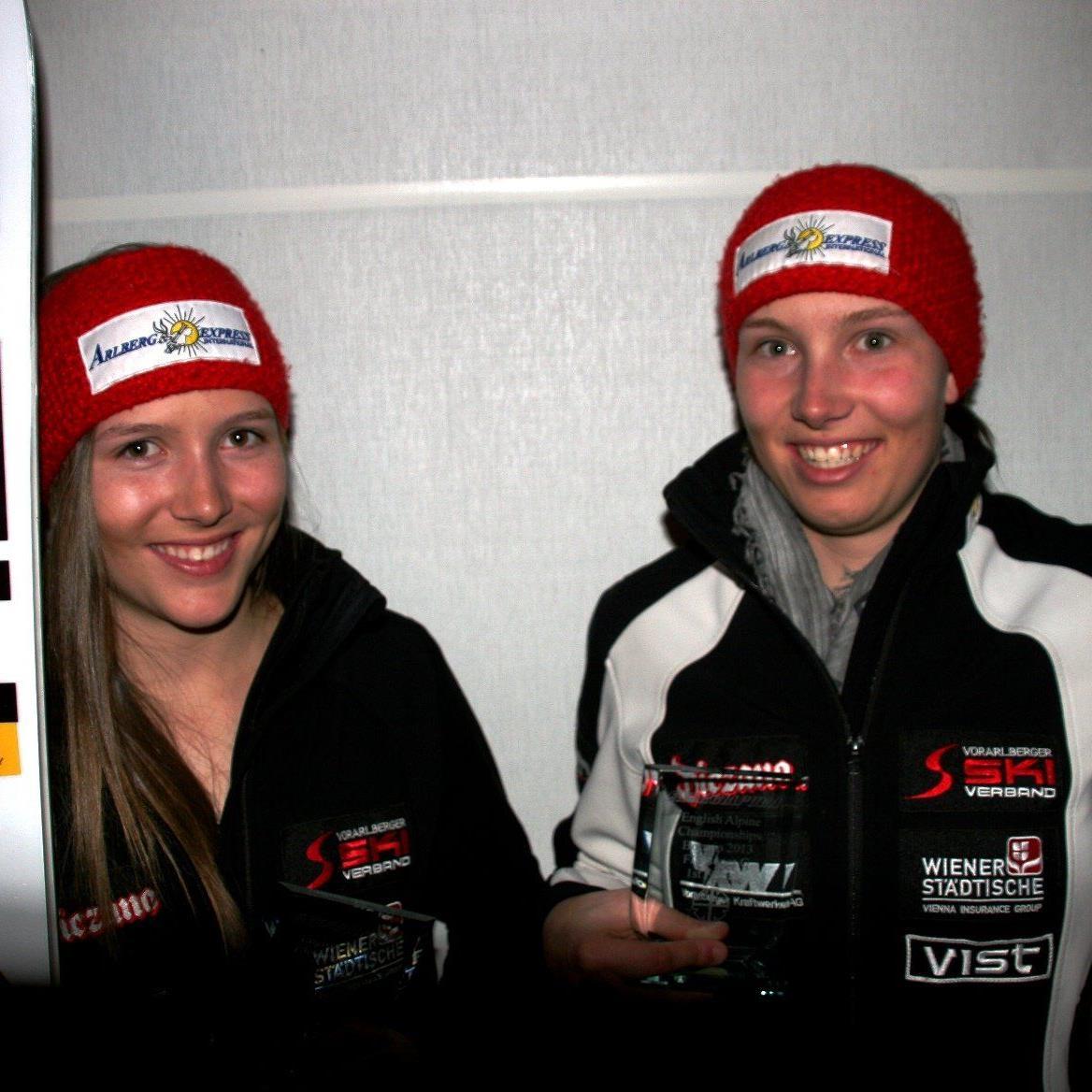 Das Götzner Geschwisterpaar Christine (r.) und Alexandra Scheyer belegten zweimal die ersten beiden Plätze.