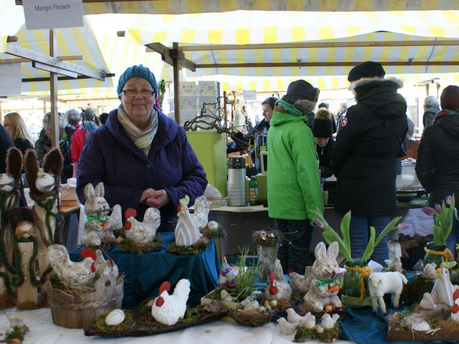 Margit Fleisch stellte tolle Osterdekoration aus und feierte am selben Tag ihren Geburtstag