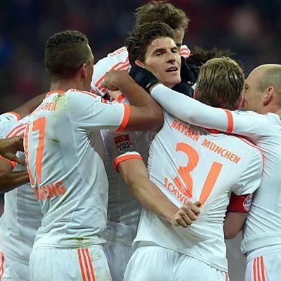 Mario Gomez brachte die Bayern in Führung