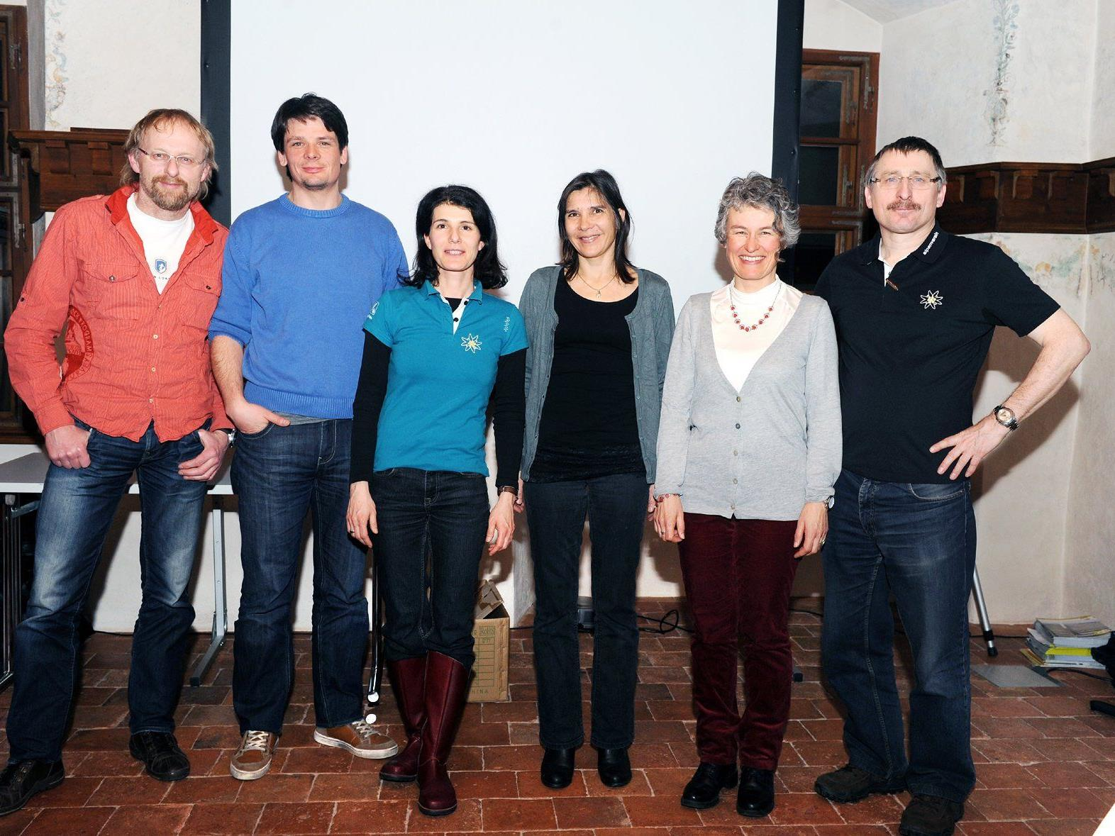 von links: Gerhard Bell, Thomas Marte, Milli Strasser-Mathis, Alida Oorburg, Christine Tabernig, Horst Huber