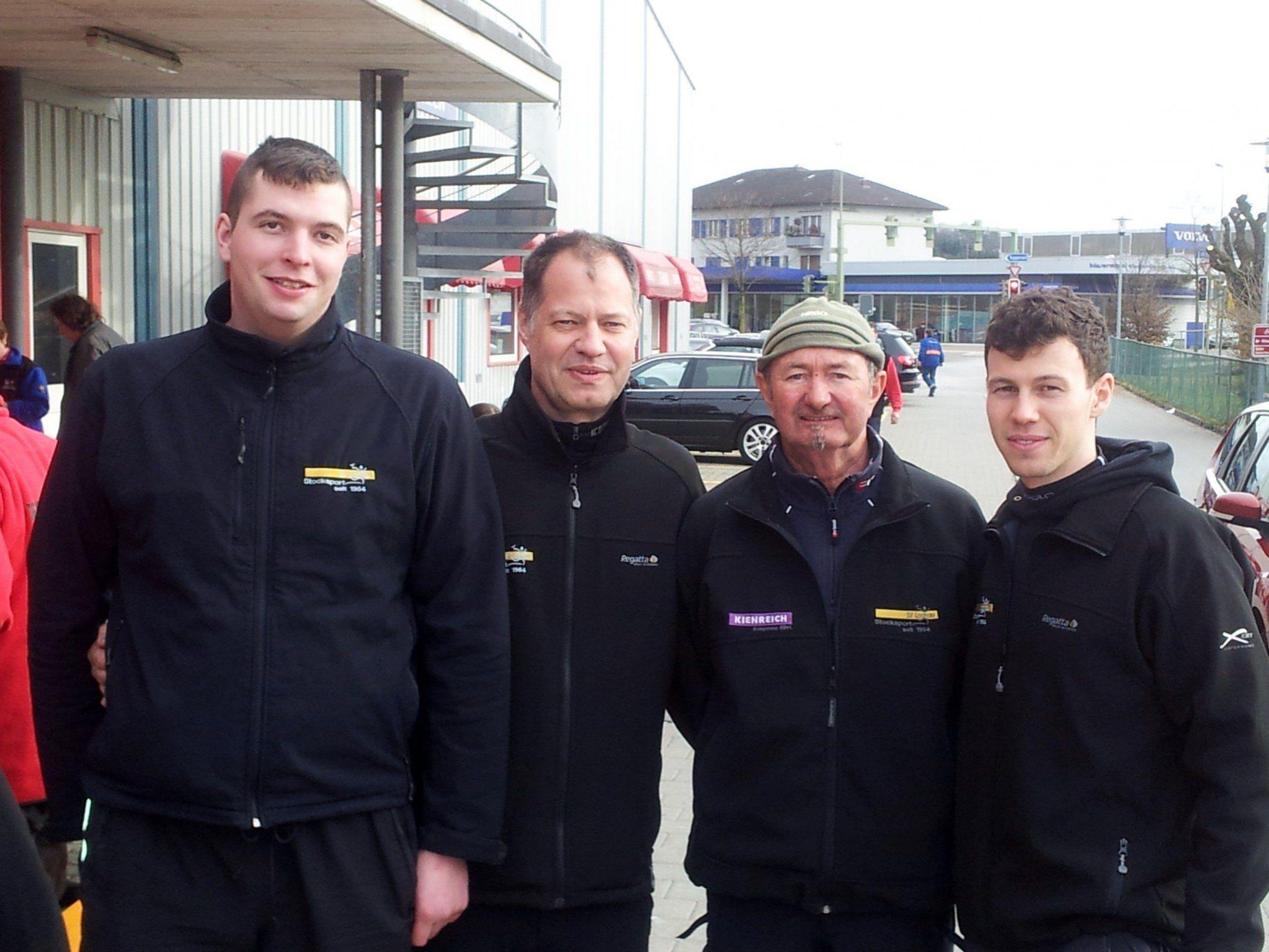 Patrik Plangger, Christoph Sohm, Erich Pienz, Abraham Sohm (v.l.n.r.)