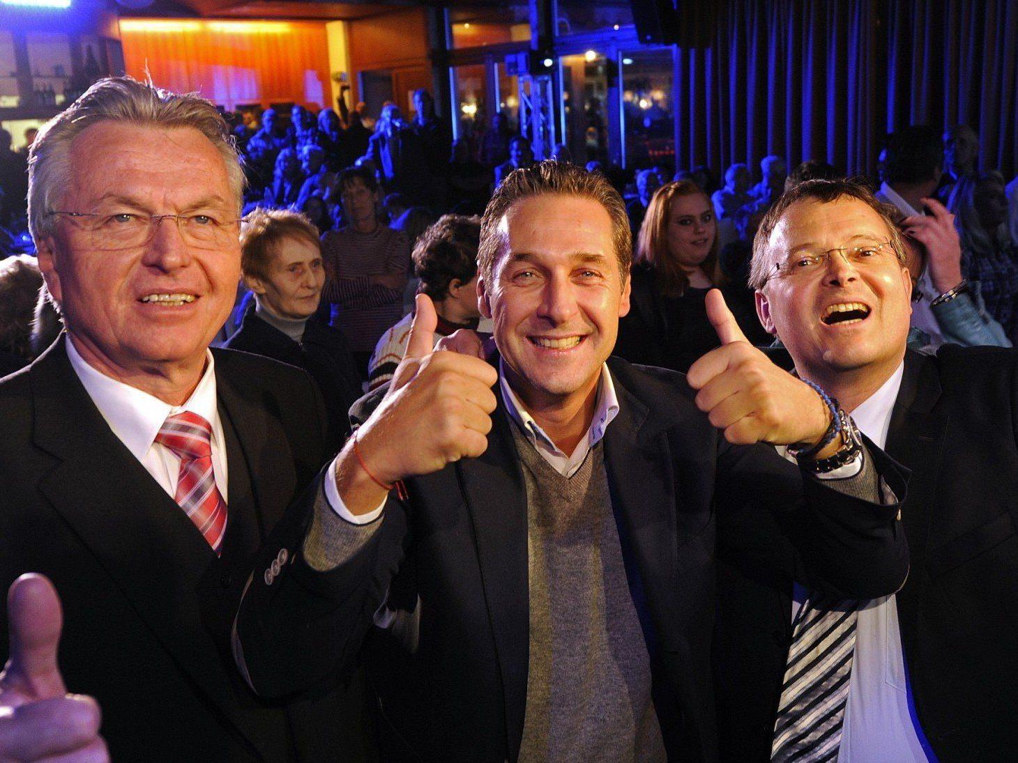 FPÖ will 15 Prozent: H.C Strache bei Ansprache in Inssbruck.