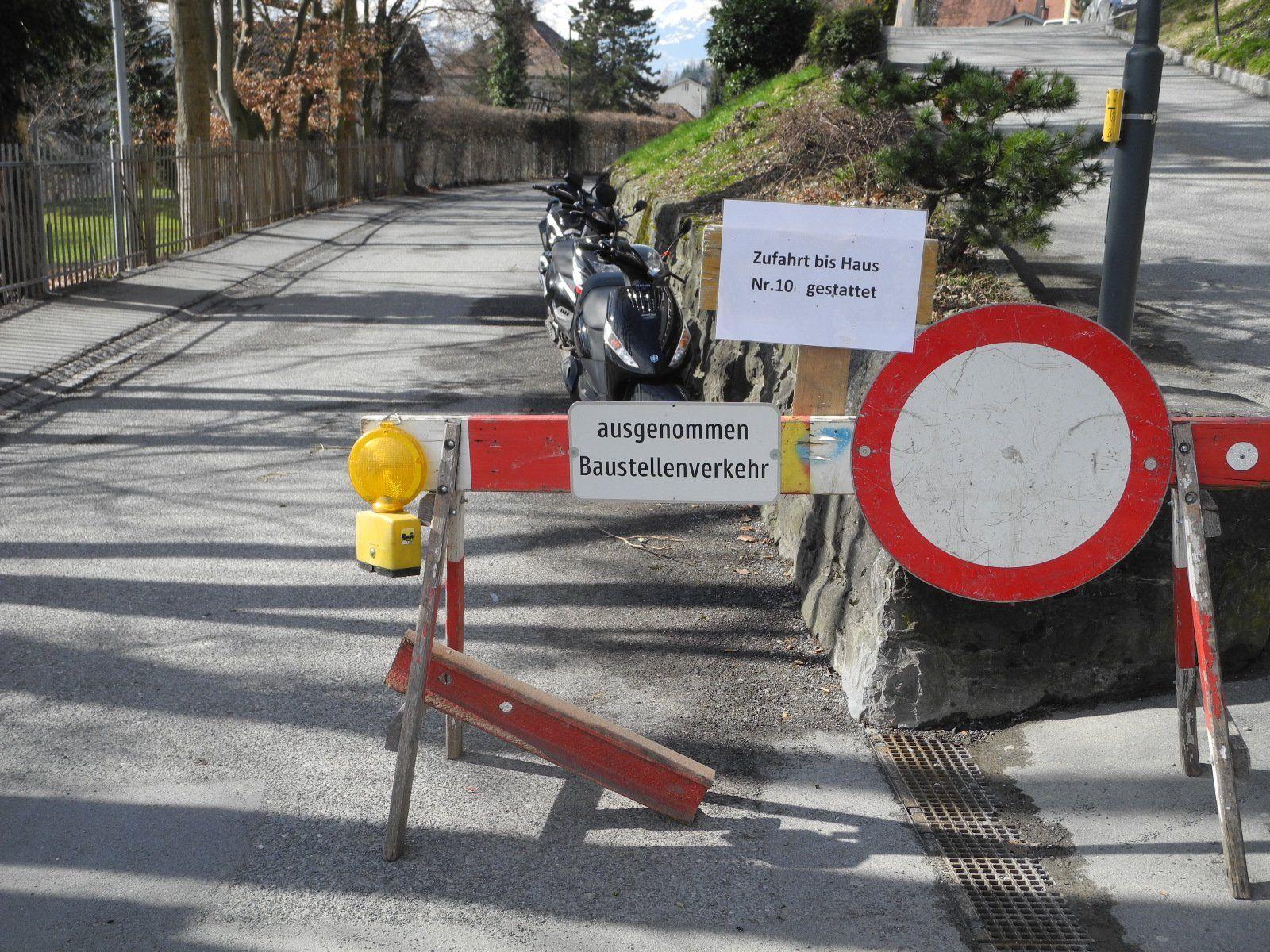 Wegen Kanalsanierungsarbeiten bleibt die Ardetzenbergstraße voraussichtlich bis Ostern gesperrt