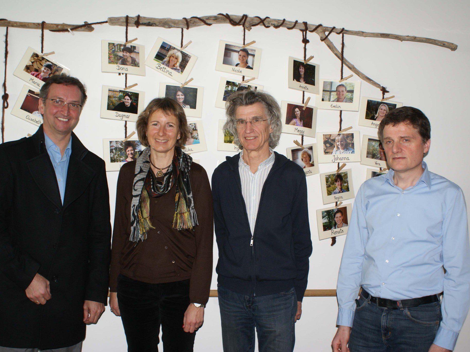 v.li. Bgm. Dieter Lauermann, LP Gabriele Nussbaumer, OMR Klaus Zitt, IAP-GF Werner Büchel.