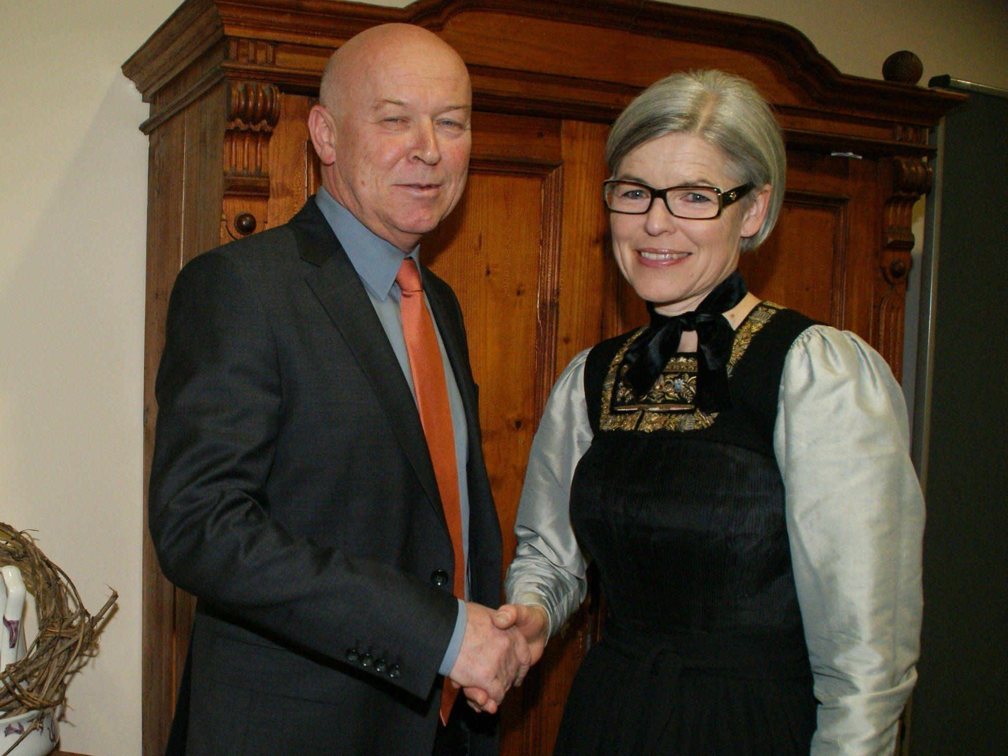 Reinhard Dür gab gestern das Amt an seine Nachfolgerin Angelika Schwarzmann ab.