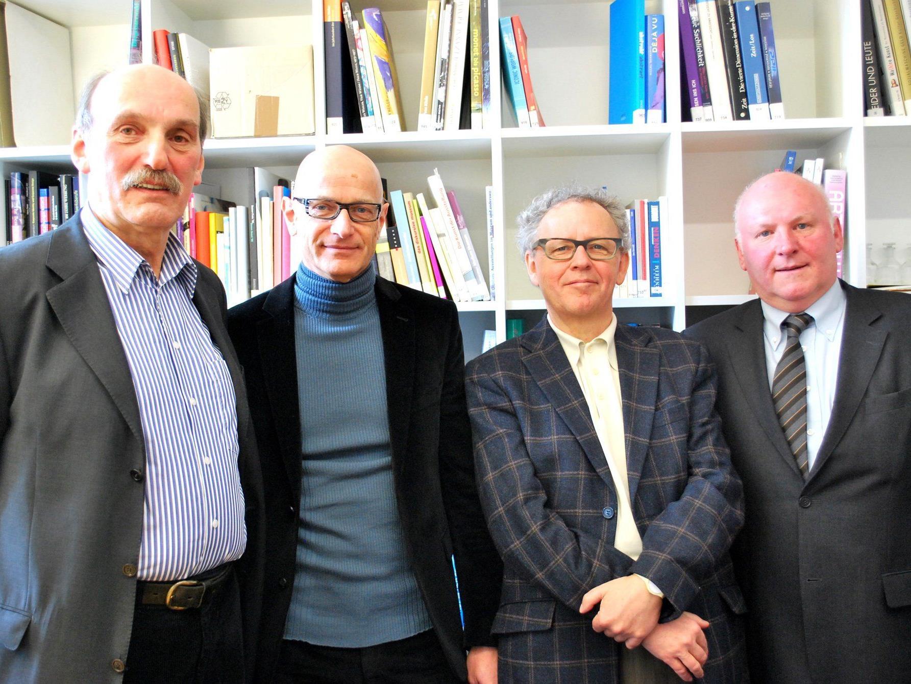 Mag. Hans Dünser, Mag. Thomas Häusle, Dr. Ekkehard Bechtold, Mag. Roland Jörg (von li)