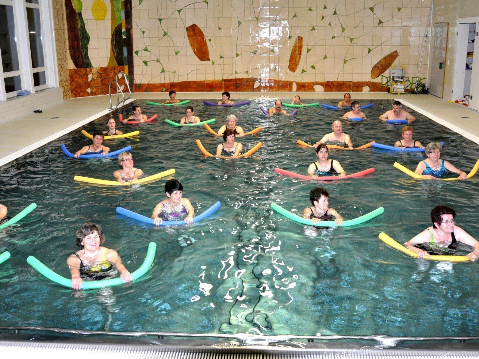 Aqua Fit eine Möglichkeit sich beim Rankweiler Kneipp Aktic Club sich fit zu halten.