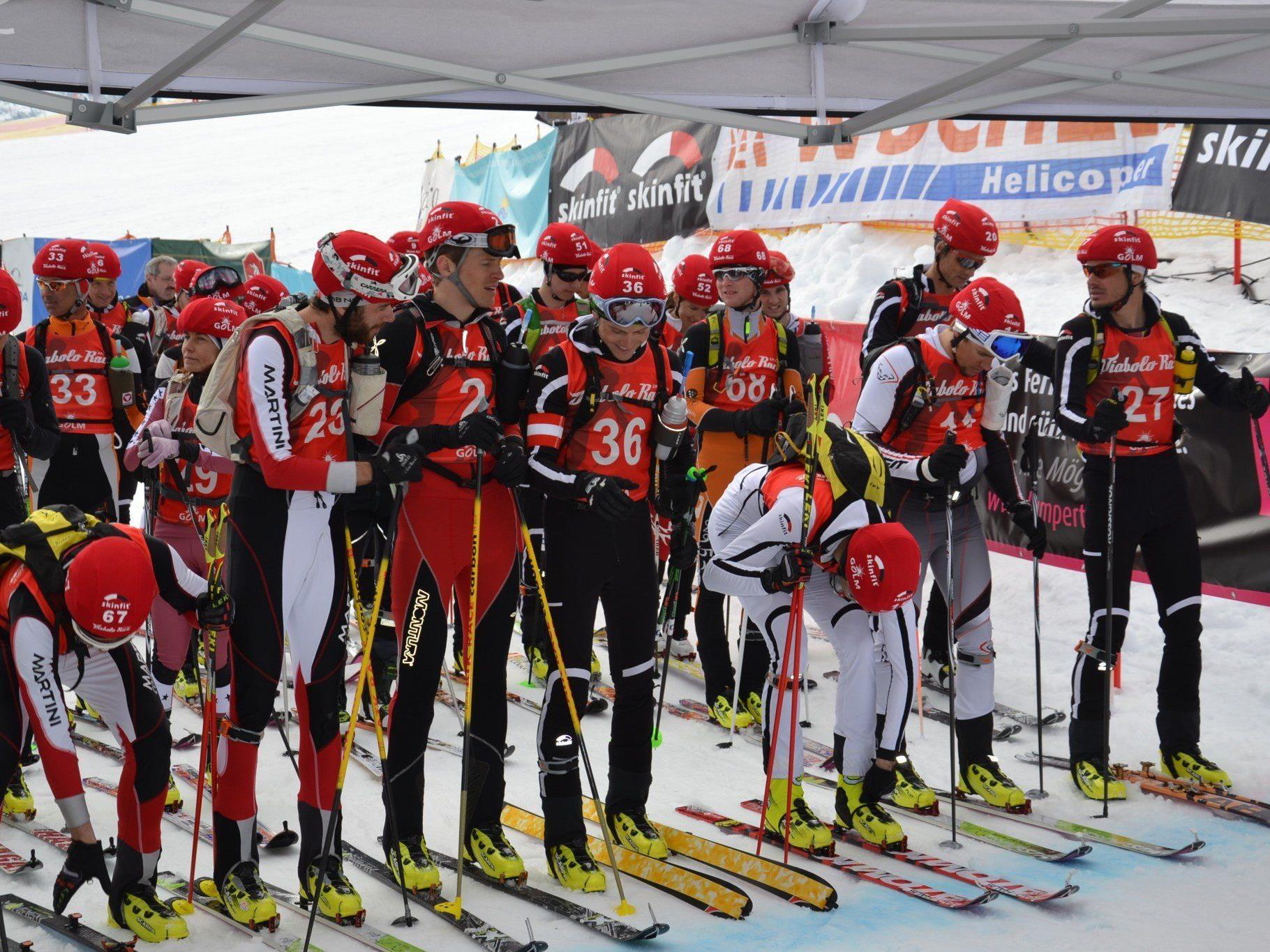 Ein spannendes Diabolo Race ging am Wochenende am Golm über die Bühne - der Klassiker im Skitourenkalender