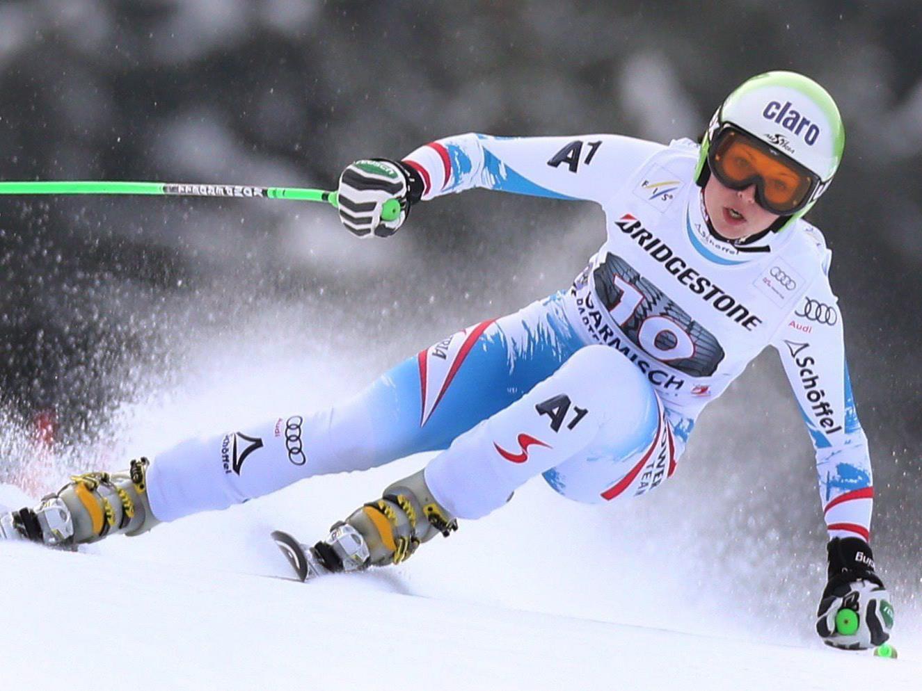 Anna Fenninger feierte in Garmisch ihren ersten Weltcup-Sieg im Super-G.