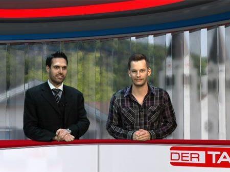 Franz - Josef Giesinger (re.) zu Gast bei Ländle TV Moderator Philipp Fasser