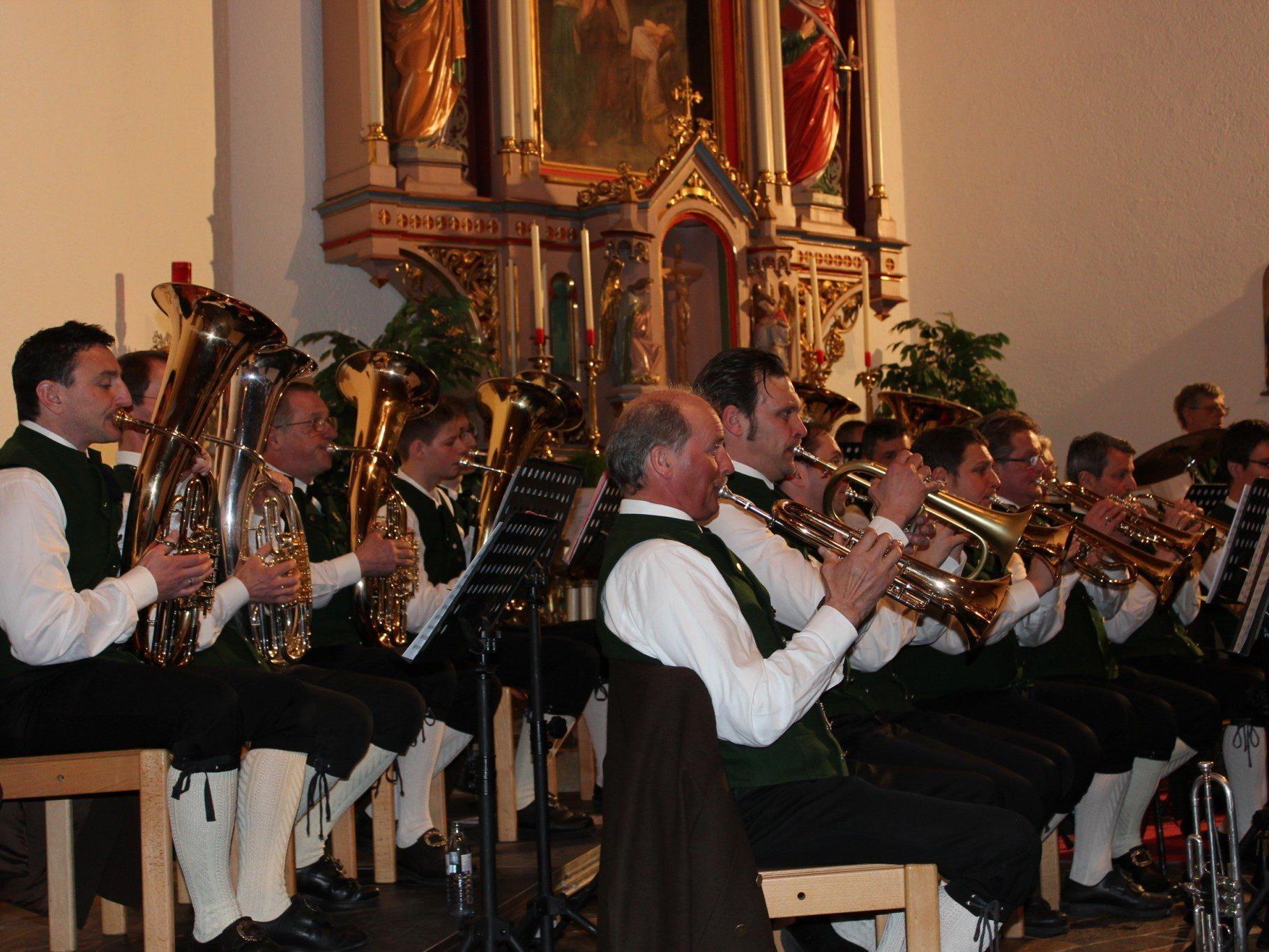 Der Musikverein Mellau spielte ein beeindruckendes Konzert.
