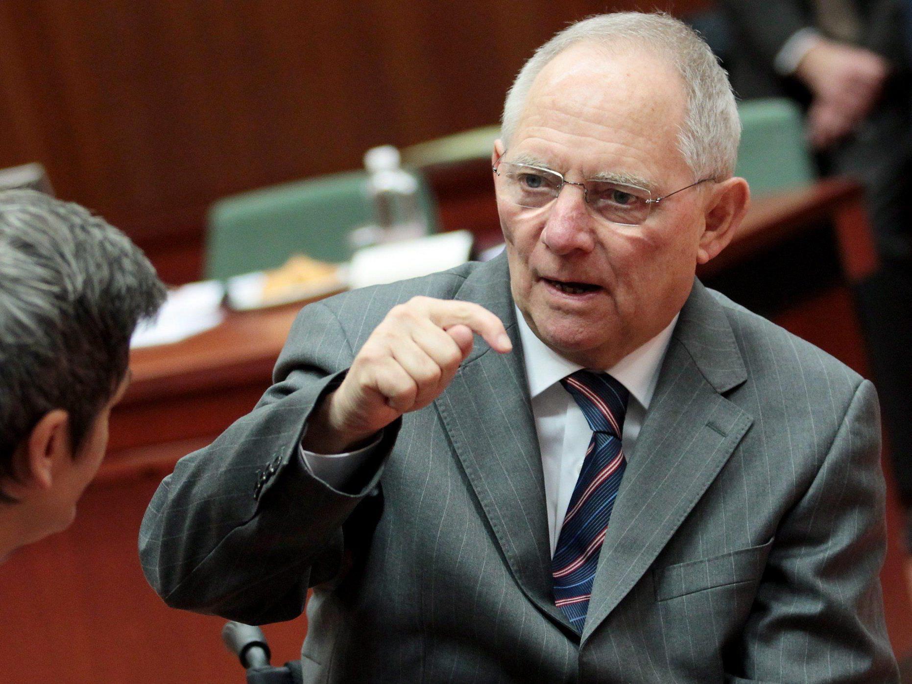 """Schäuble: """"Imageverlust wäre eine Katastrophe."""""""