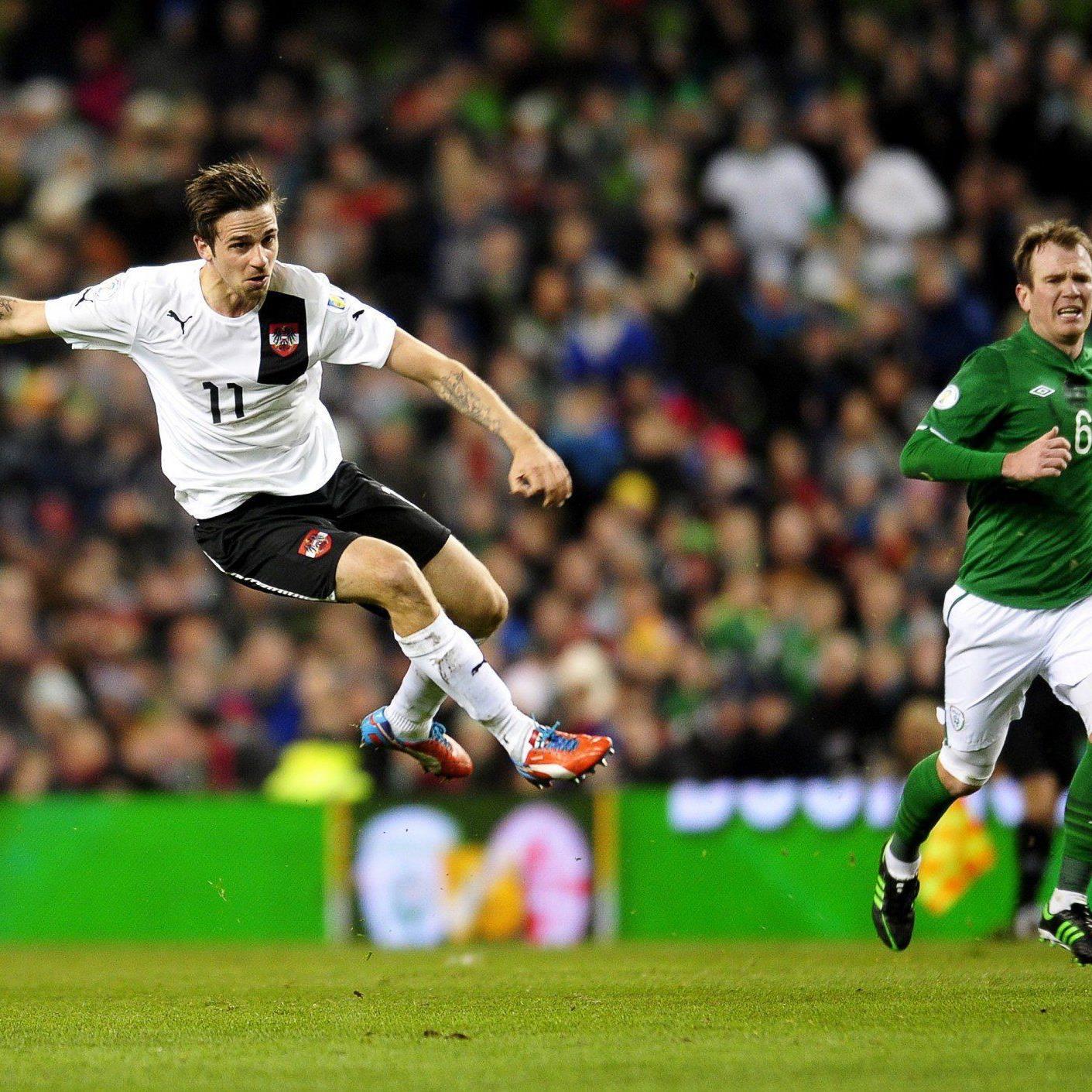 Martin Harnik sorgte in der elften Minute für das 1:0 gegen Irland.