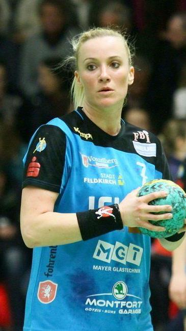 Feldkirch Legionärin Martina Strmsek will viele Tore werfen.