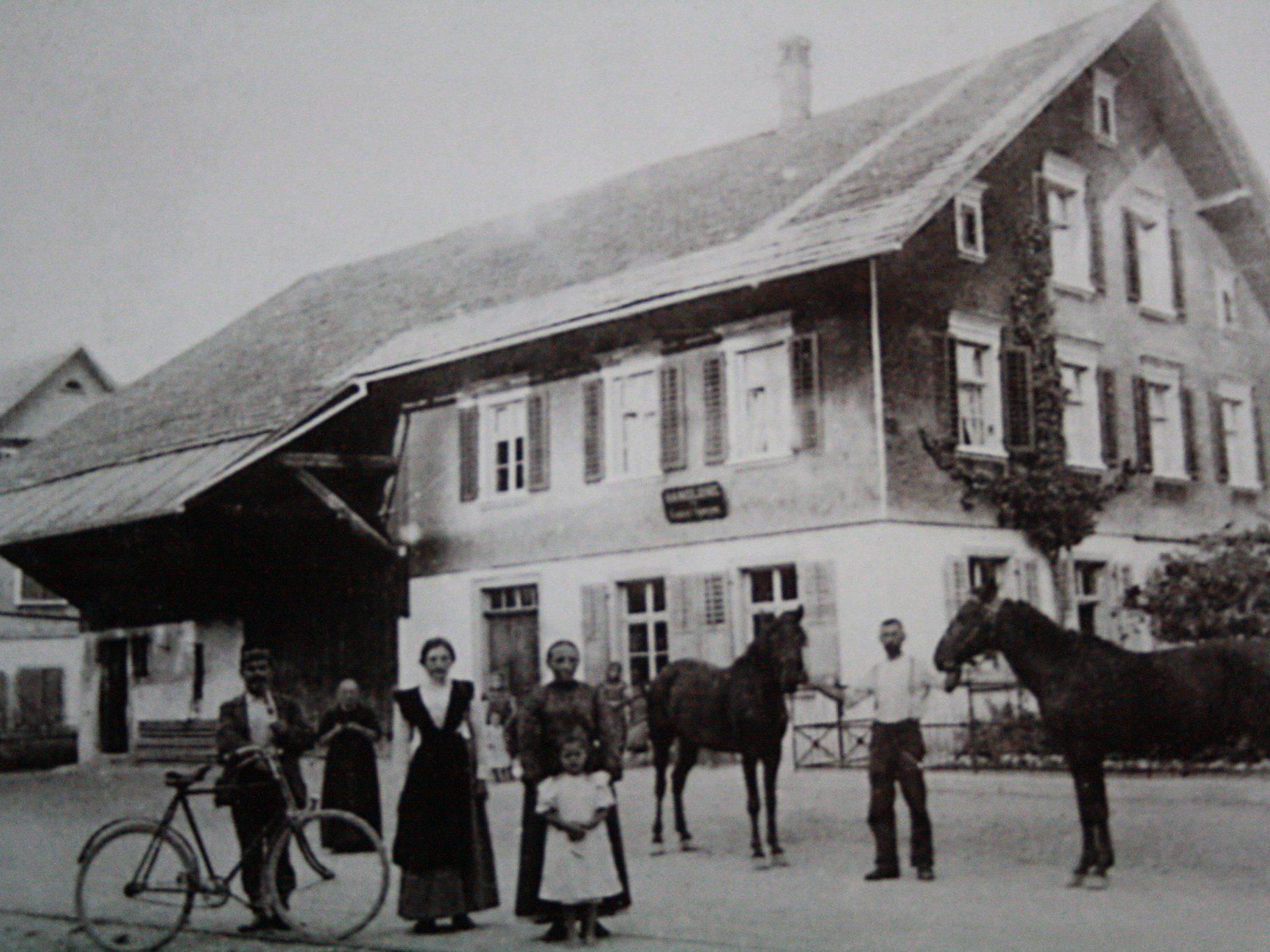 """""""Radis"""" in der Reichsstraße 15 im Jahre 1909"""