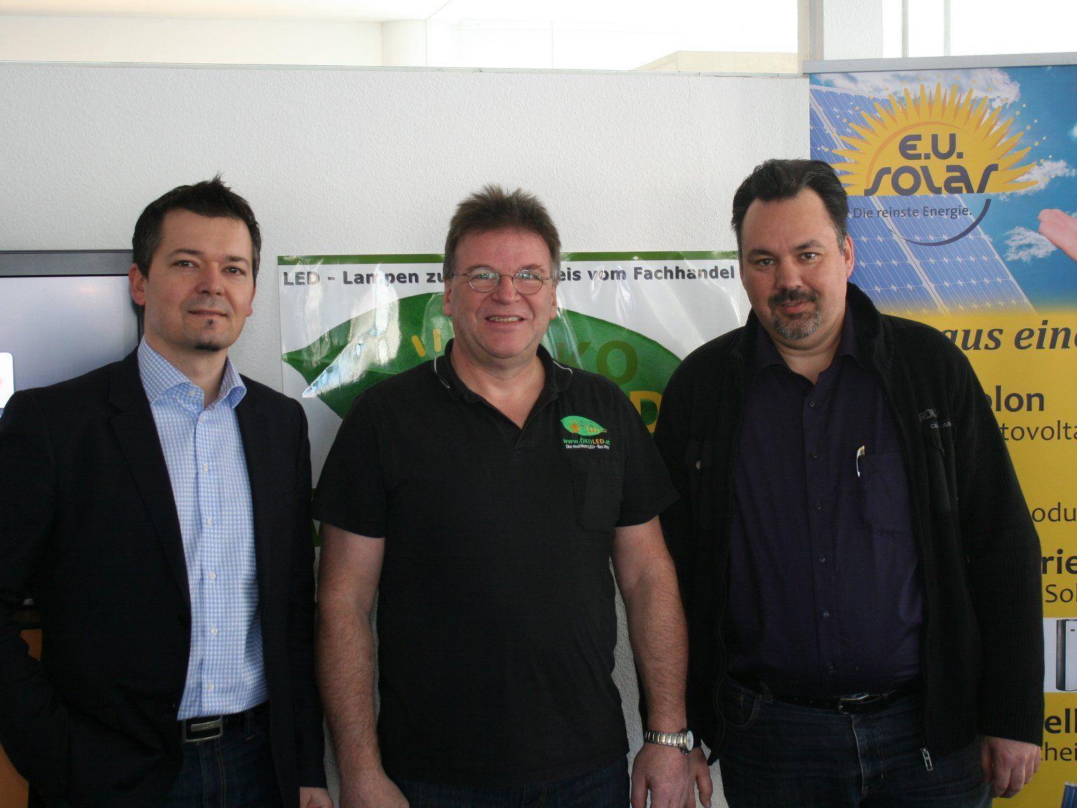 Energieexperten Oliver J. Wolff, Walter Siller und Wilfried Flatz