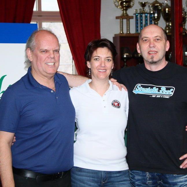Patricks-Inhaber Norbert Engel, PPC-Obfrau Isabella Pack und Kurslehrer Thomas Damm.