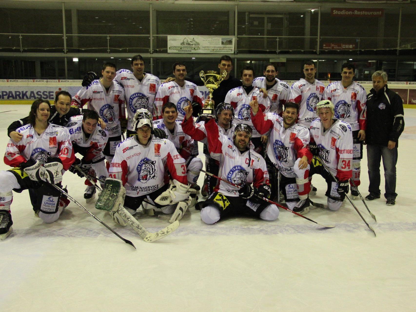 Ice Tigers Dornbirn sind Meister der VEHL 2 und dürfen jubeln.