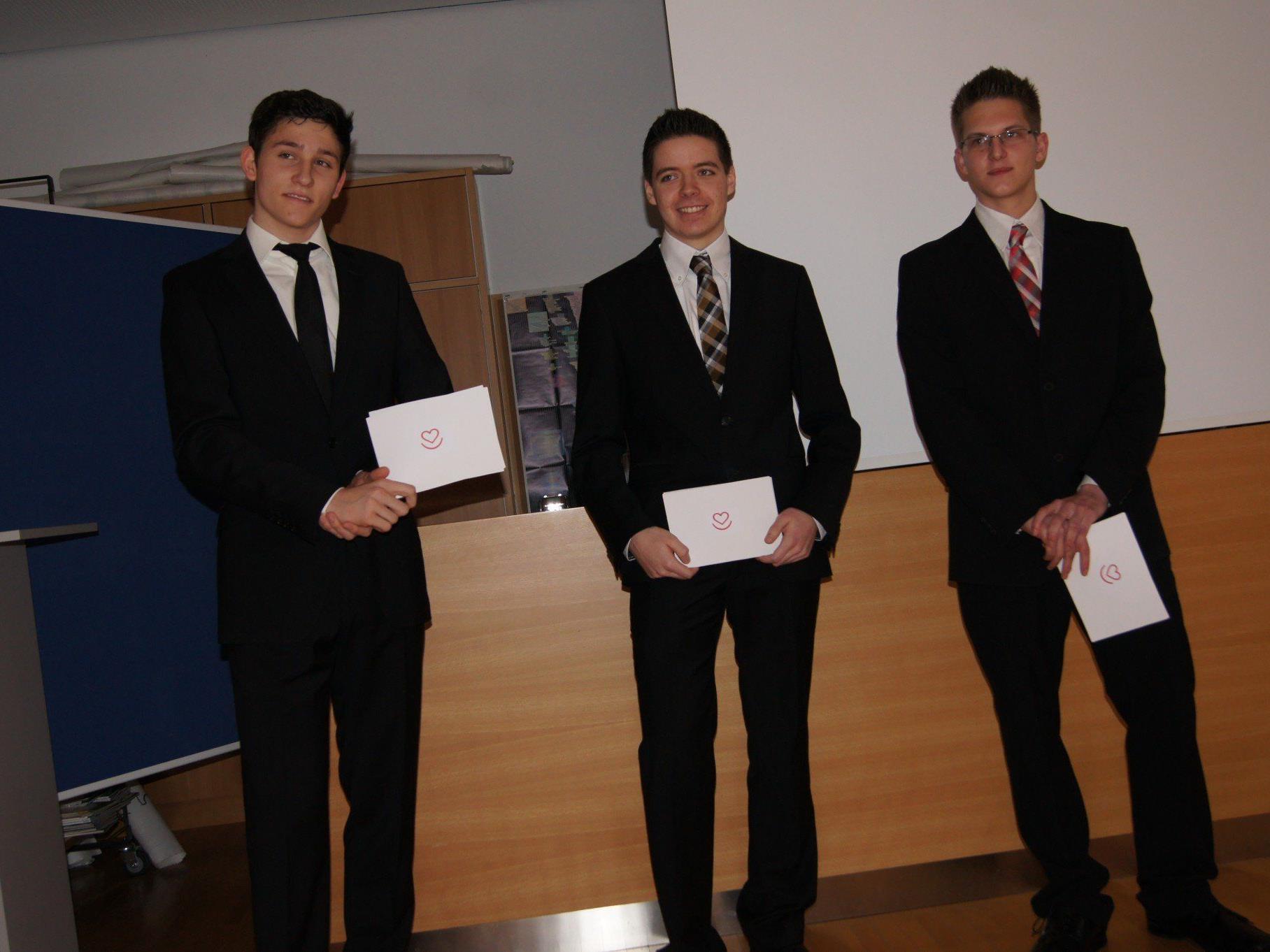Pascal Pusnik, Sebastian Bösch und Tobias Vonach präsentierten ihre Projektarbeit.