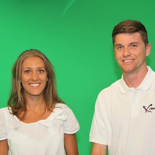 Die Moderatoren Bianca Oberscheider und Marc Gächter von Ländle TV freuen sich auf die Premiere.