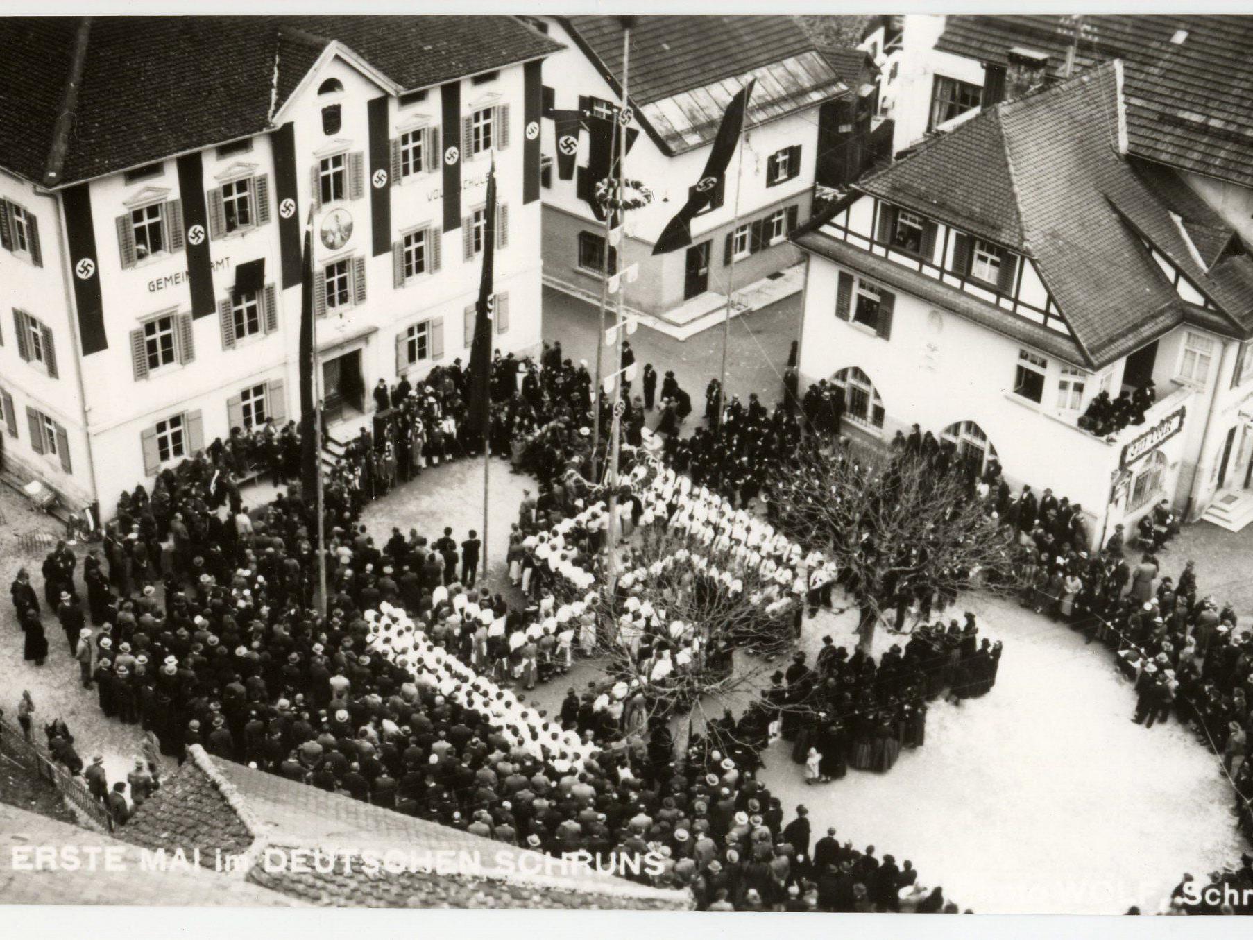 NS-Feier am 1. Mai 1938 in Schruns