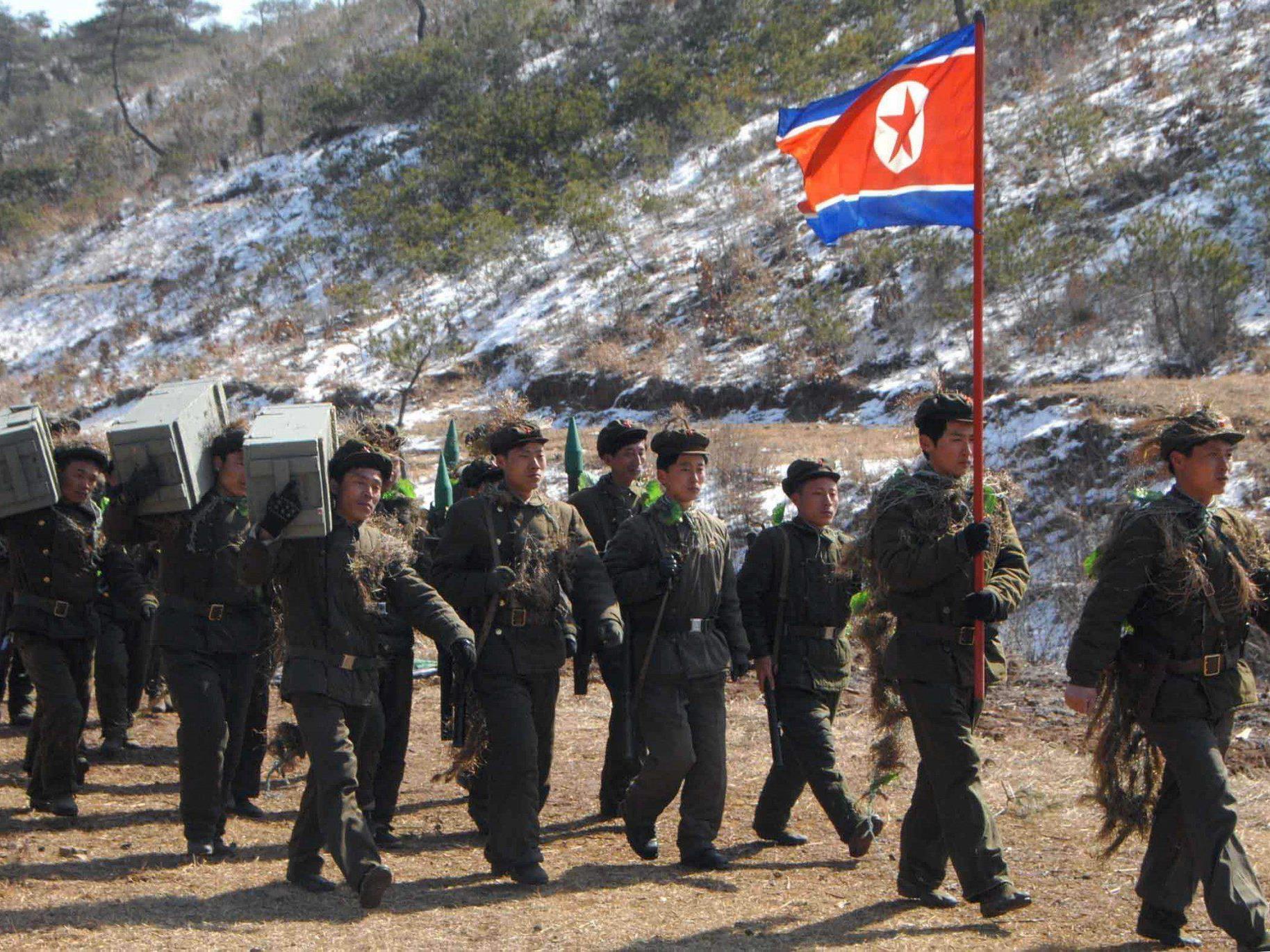 Die nordkoreanische Armee droht dem Nachbarn im Süden und den USA.
