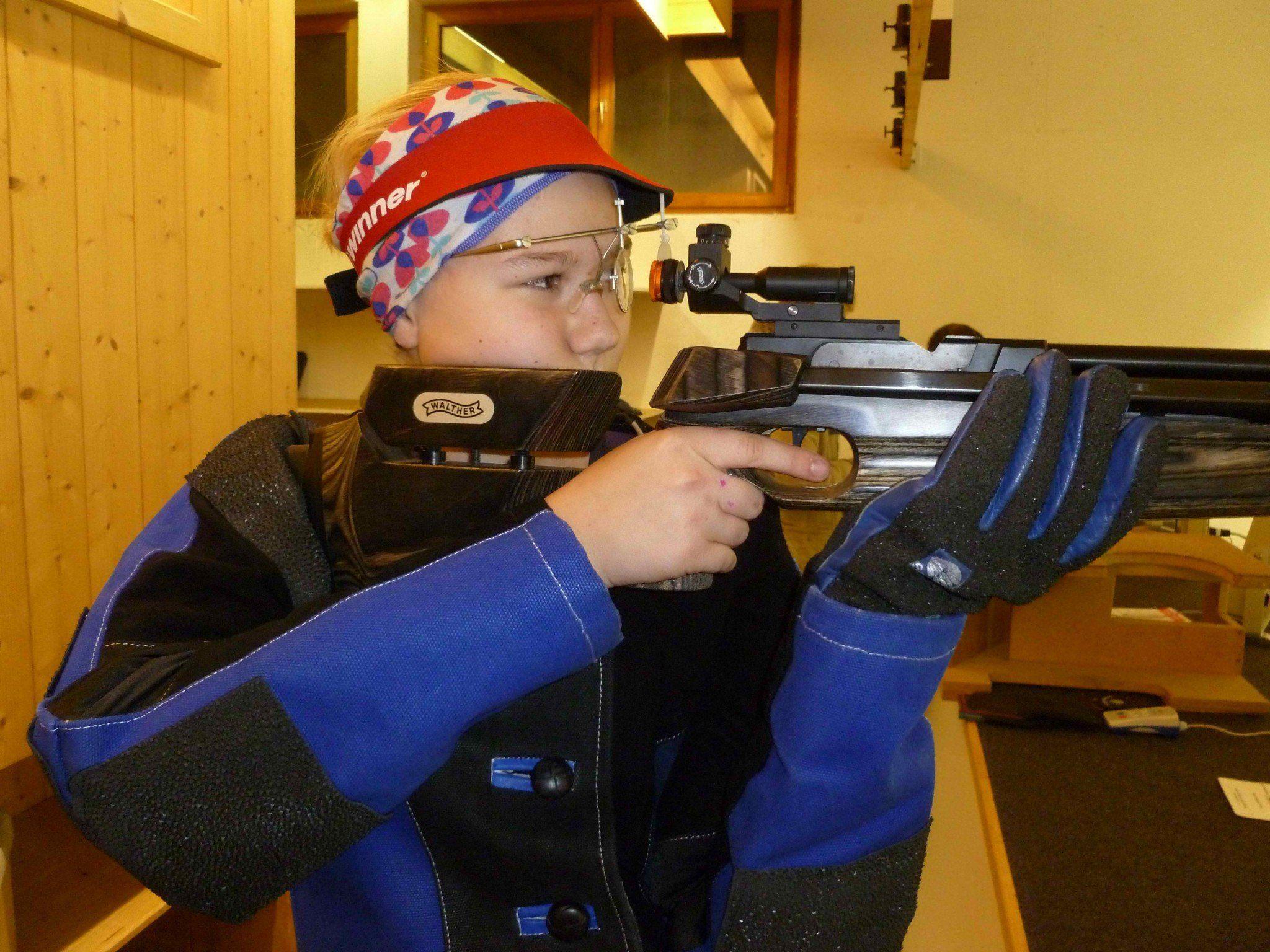 Sabrina Hopfner erreichte 362 Ringe in der Jungschützen-LG 40-Klasse
