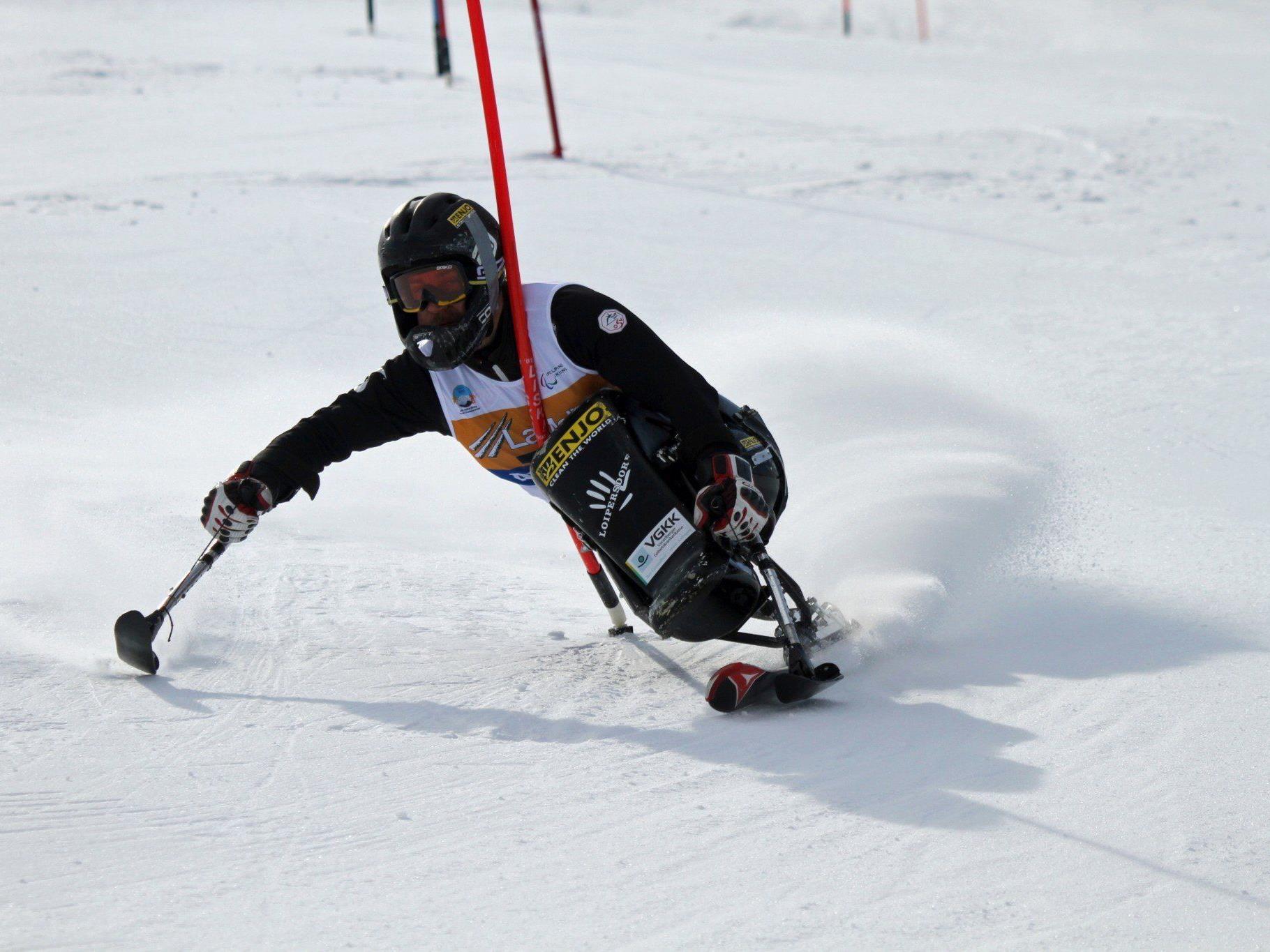 Philipp Bonadimann auf dem Weg zu Gold bei der Weltmeisterschaft der alpinen Behindertensportler in La Molina.