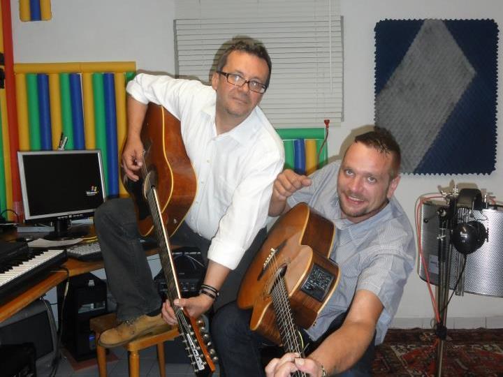 Im Studio mit dem Produzenten Christian Strohmayer