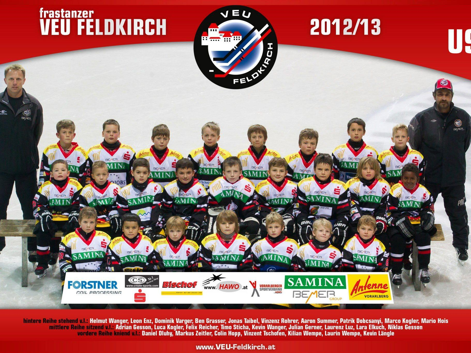 U9 Mannschaft der frastanzer VEU Feldkirch