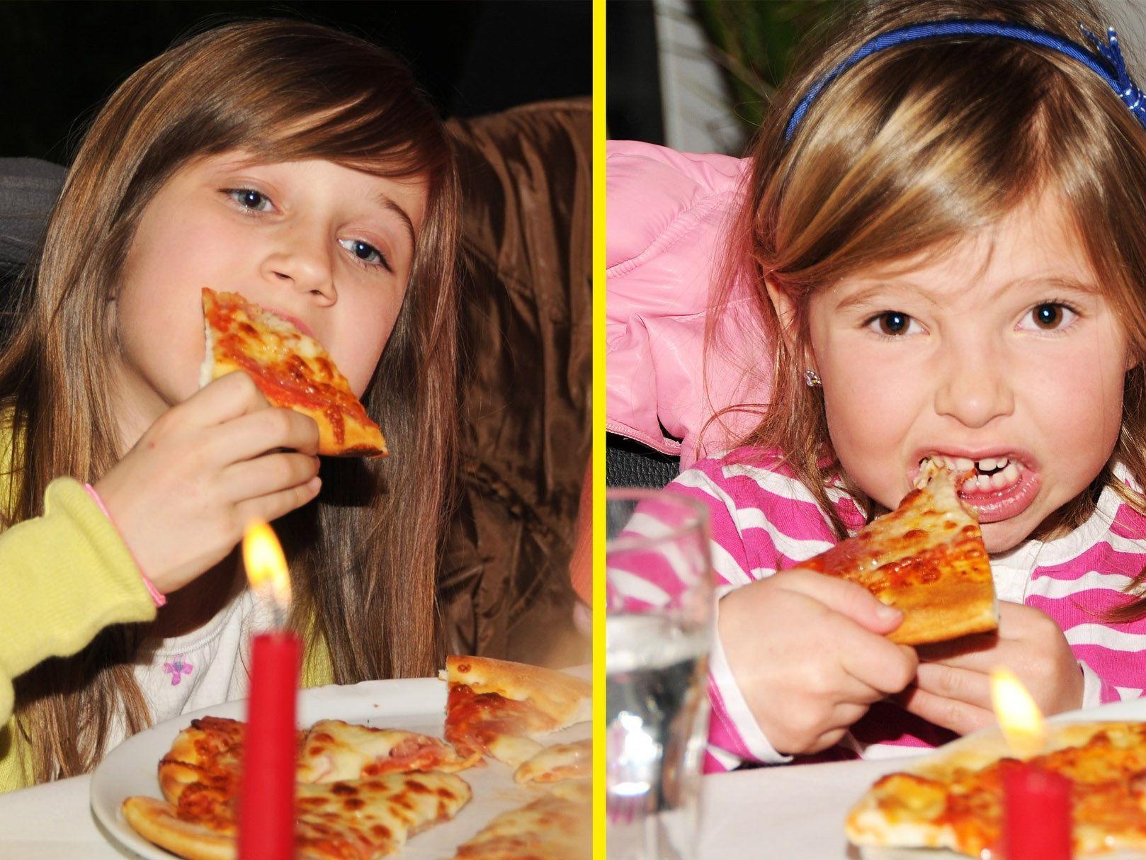 Die Mädchen der jungen Harder Garde bewiesen im Da Vinci allerhand Appetit.