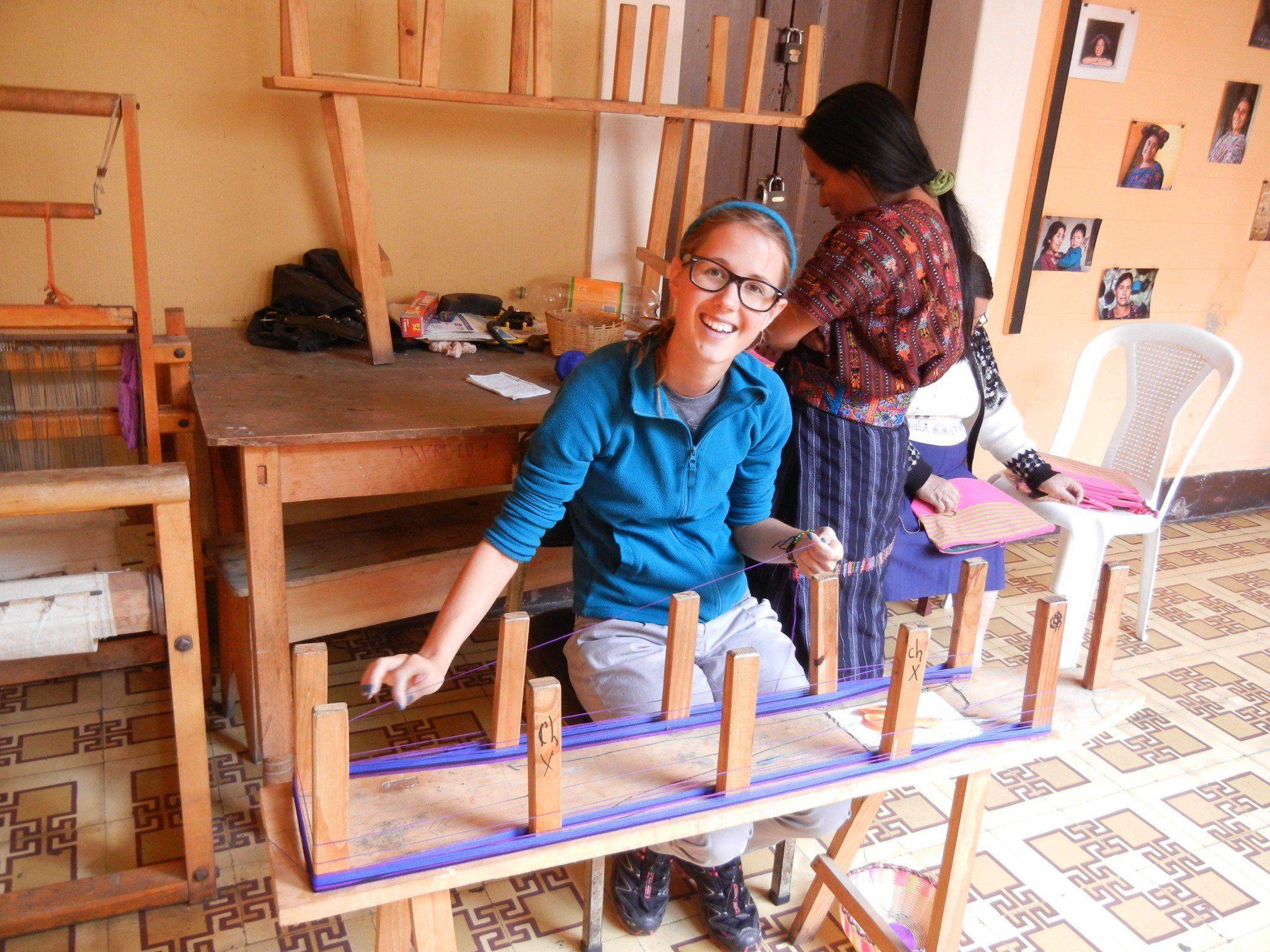 Vier Wochen arbeitete Angelika Heinzle bei Trama Textiles.