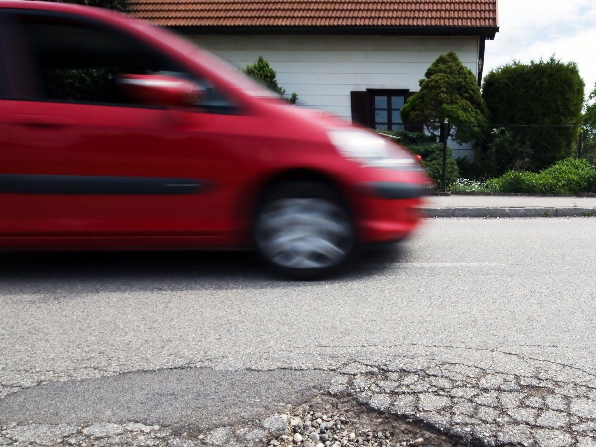Vorbeifahrende Autos konnten noch rechtzeitig bremsen.