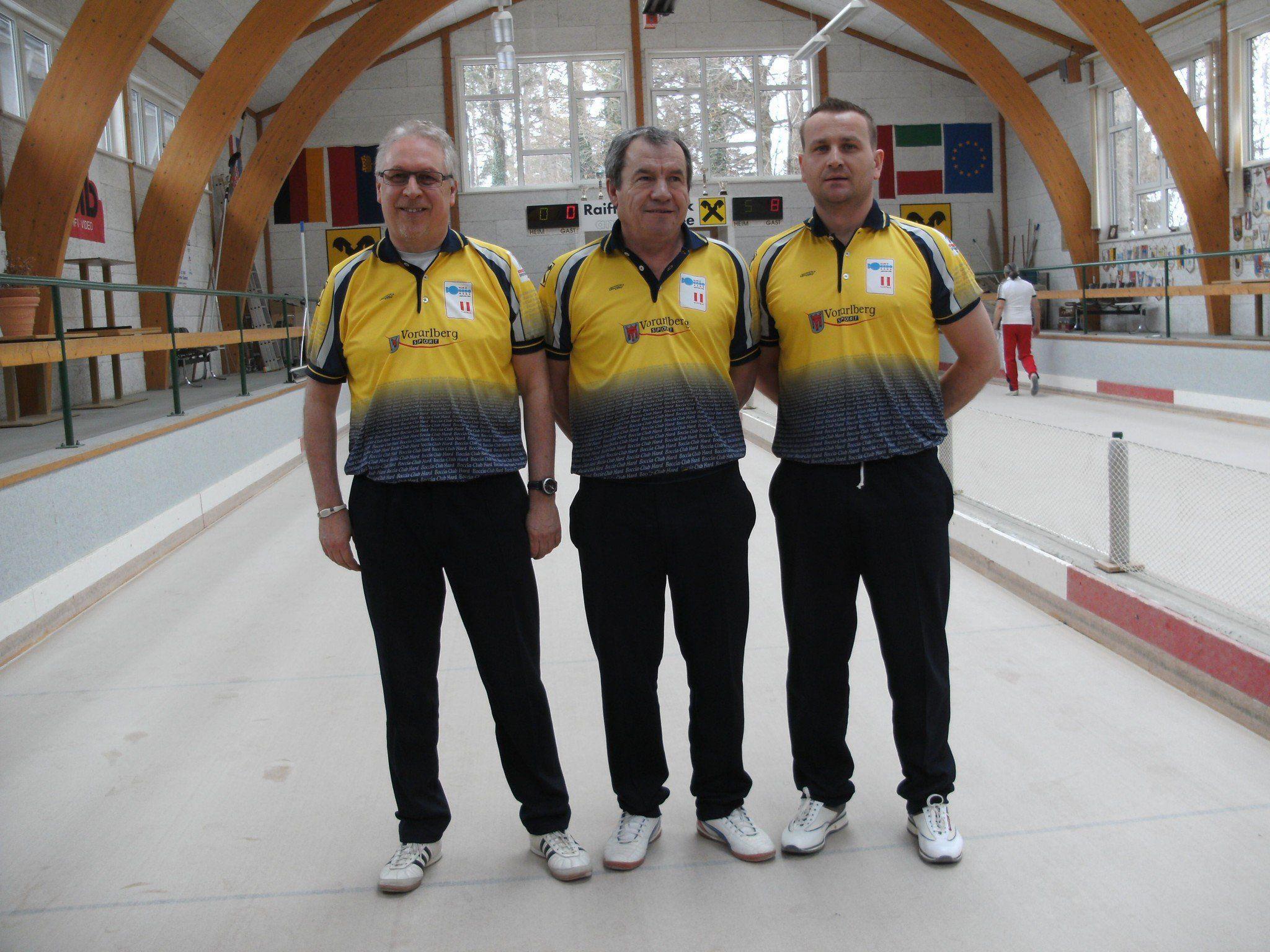 Landesmeister und Siegerteam Dieter ILL, Mate Kovacevic, Sinisa Stefanac
